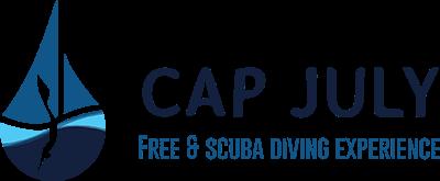 Logo Cap July, Plongée et apnée sur la Côte d'Azur